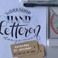 workshop handletteren 30 oktober bij Mooisch Schiedam
