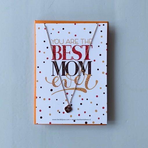 kaartje best mom ever met kettinkje
